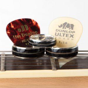 Silver Vinyl LP Guitar String Ring